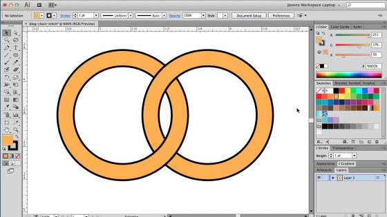 how to draw chains in illustrator