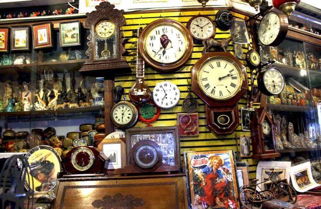 Inside the Old Curiosity Shop.