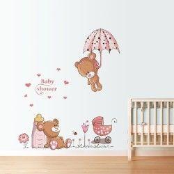 Cute teddybears!  Fynda denna ursnygga nallebjörn väggdekor! De snygga färgerna i kombination med motivet ger barnrummet en behagligare look samtidigt som väggen sticker ut bland mängden.  Länk till produkt: http://www.feelhome.se/produkt/cute-teddybears/  #Homedecoration #art #interior #design #Walldecor #väggdekor #interiordesign #Vardagsrum #Modernt #vägg #inredning #inredningstips #heminredning  #nallebjörn #björn #kärlek #hjärtan #barn #barnrum #barninredning