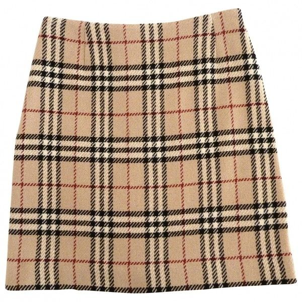 TARTAN SKIRT BURBERRY (£47) ❤ liked on Polyvore featuring skirts, bottoms, faldas, plaid skirt, burberry, tartan plaid skirt, burberry skirt and beige skirt