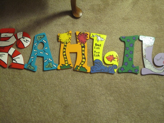 Dr Seuss Hand Painted Letters by Snicklefritzs on Etsy, $15.00