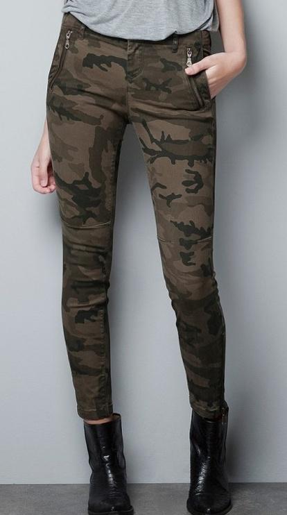 Zara hose camouflage