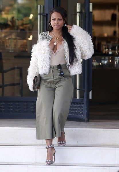 Christina Milian Photos Photos - Singer Christina Milian is spotted out shopping at Barneys New York in Beverly Hills, California on April 28, 2017. Christina was sporting an extremely low cut shirt under her fancy fur jacket. - Christina Milian Out Shopping At Barneys New York
