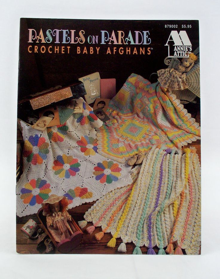 Pastels on Parade Crochet Baby Afghans Annies Attic Patterns Leaflet ...