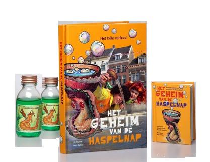 'Het geheim van de Haspelnap' -  Karin Horst, Jolanda Oudijk, Annette Verspoor / Amersfoortse schrijvers. Over twee kinderen uit Amersfoort, een draak en bijzondere drakentranen $14.95 (euro's) inclusief miniboekje. Ook te koop bij Bibliotheken Eemland.