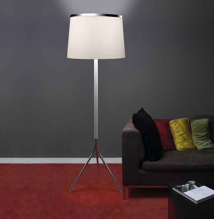 Lámpara de pie Leila con pantalla Blanca