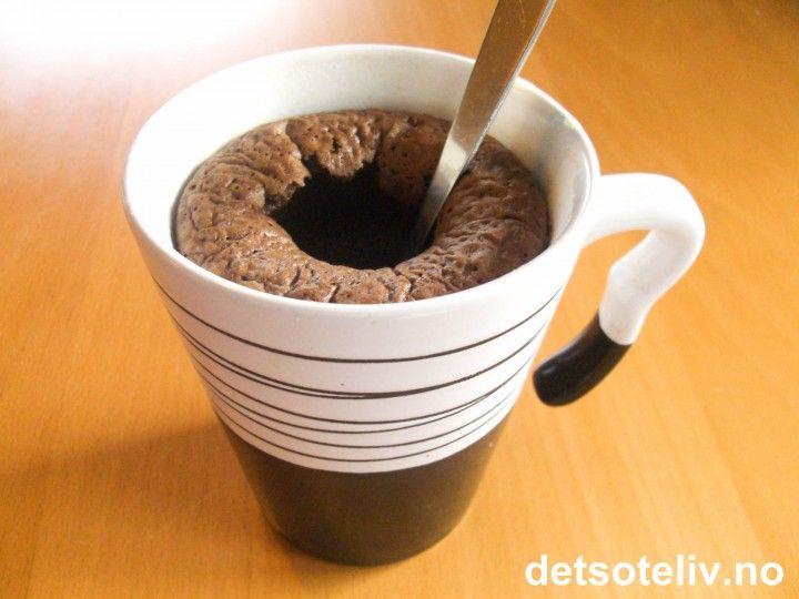 Flytende sjokoladekake i kopp | Det søte liv