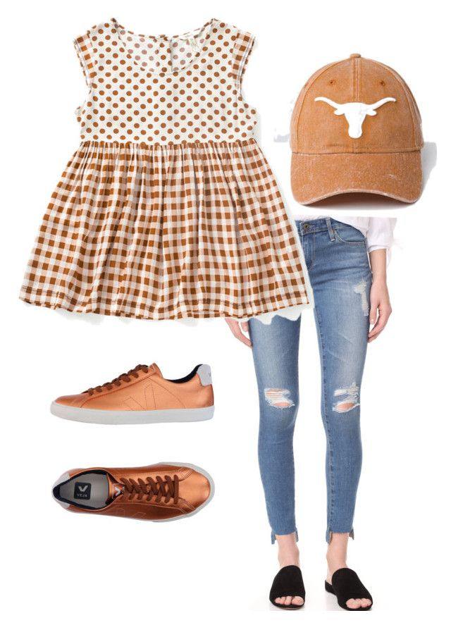 """UT game day ready!"" by shannah-quinn on Polyvore featuring AG Adriano Goldschmied, Veja, MyStyle, texas, MatildaJane, matildajaneclothing and trunkkeeper"