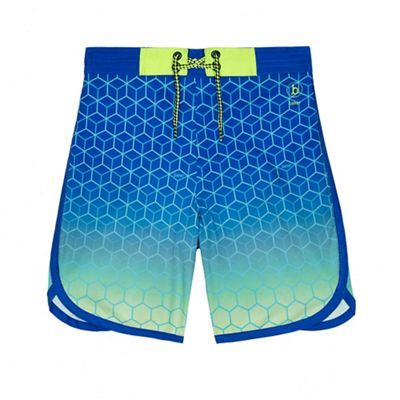Baker by Ted Baker Boys' blue ombre 4 way stretch geometric print swim shorts | Debenhams