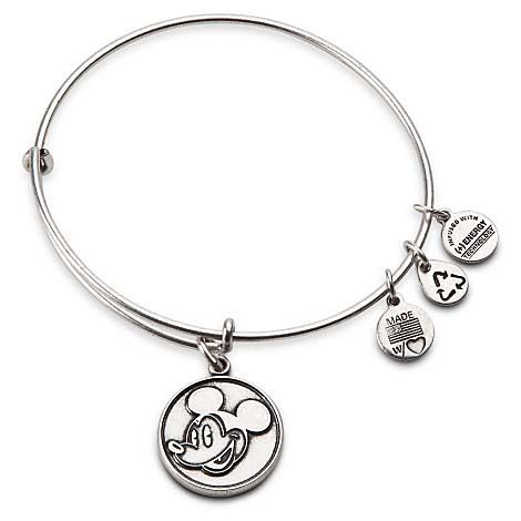 Your WDW Store - Disney Alex and Ani Charm Bracelet - Mickey Mouse - Silver