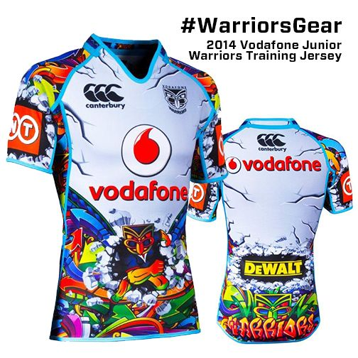2014 Vodafone Junior Warriors Training Jersey #WarriorsGear #Street #Jersey