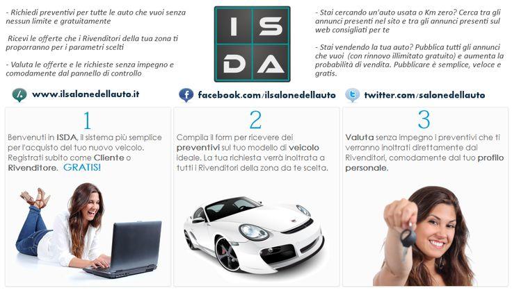 I #Salone Dell' #Auto è il sistema più semplice per l'acquisto di una nuova auto. http://www.ilsalonedellauto.it/ #annunci #auto #nuove #usate #preventivi #offerte