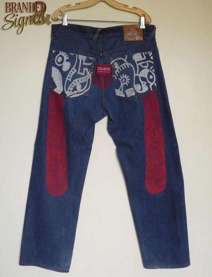 EVISU Paris Jeans men s 36 X 31 Straight Relaxed Cut