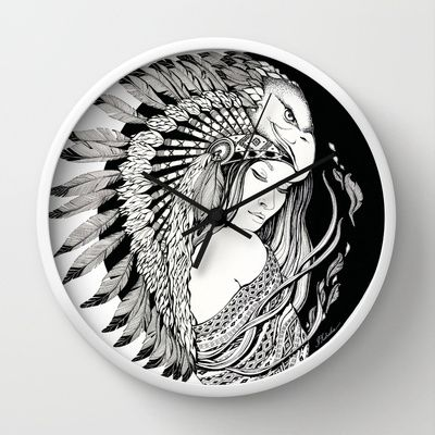 A dream of feathers Wall Clock by ioanazdralea - $30.00