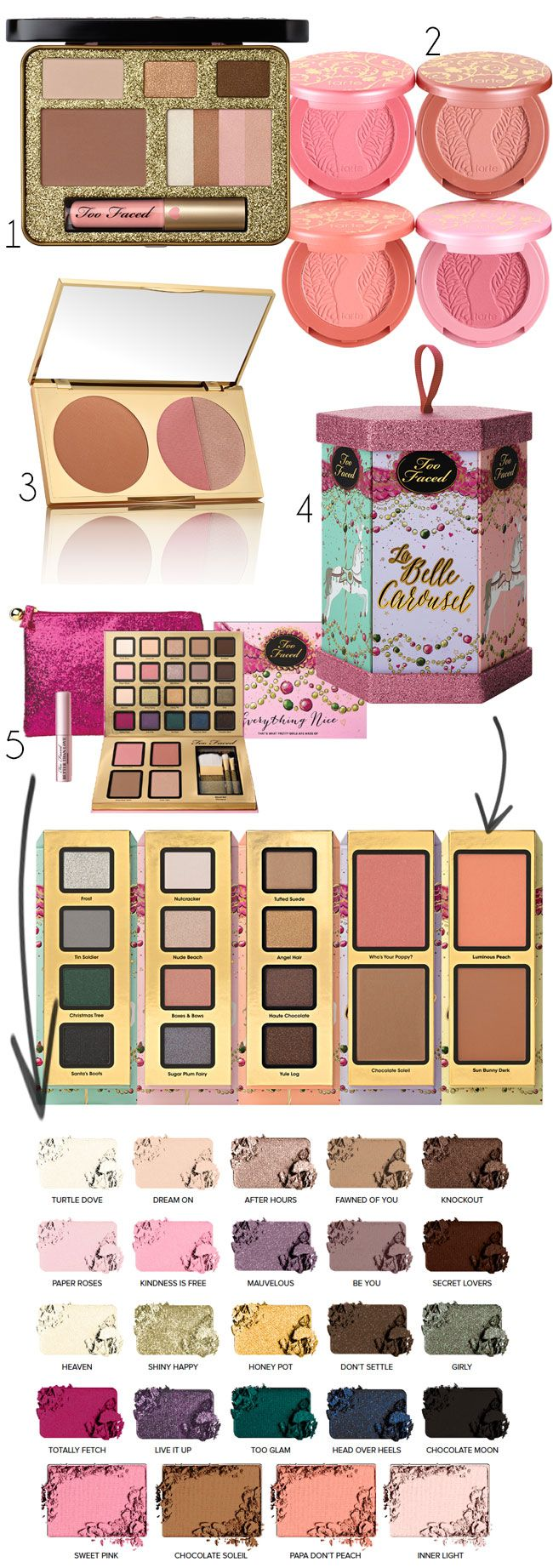 Best holiday makeup gift sets and palettes -- Too Faced Cosmetics #TooFaced