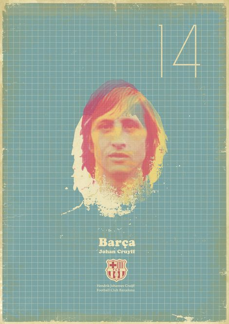 Zoran Lucic poster - Johan Cruyff