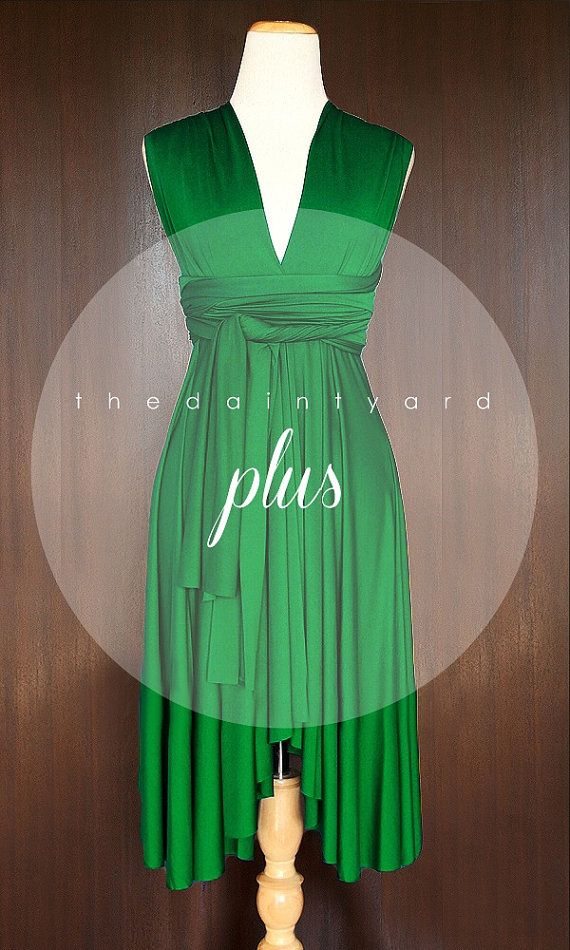 Plus Size Emerald Green Bridesmaid Convertible by thedaintyard, $53.00