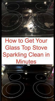 Cleaning hack to clean your glass stove in just a few minutes. FMI: Dawn, peroxide, baking soda and brush.