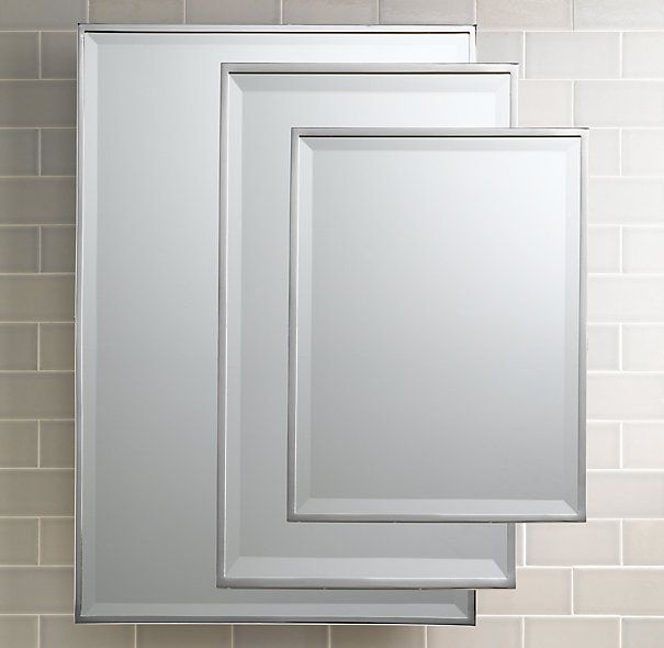 Traditional wall mirror master 24x 36 395 polished Polished chrome bathroom mirrors
