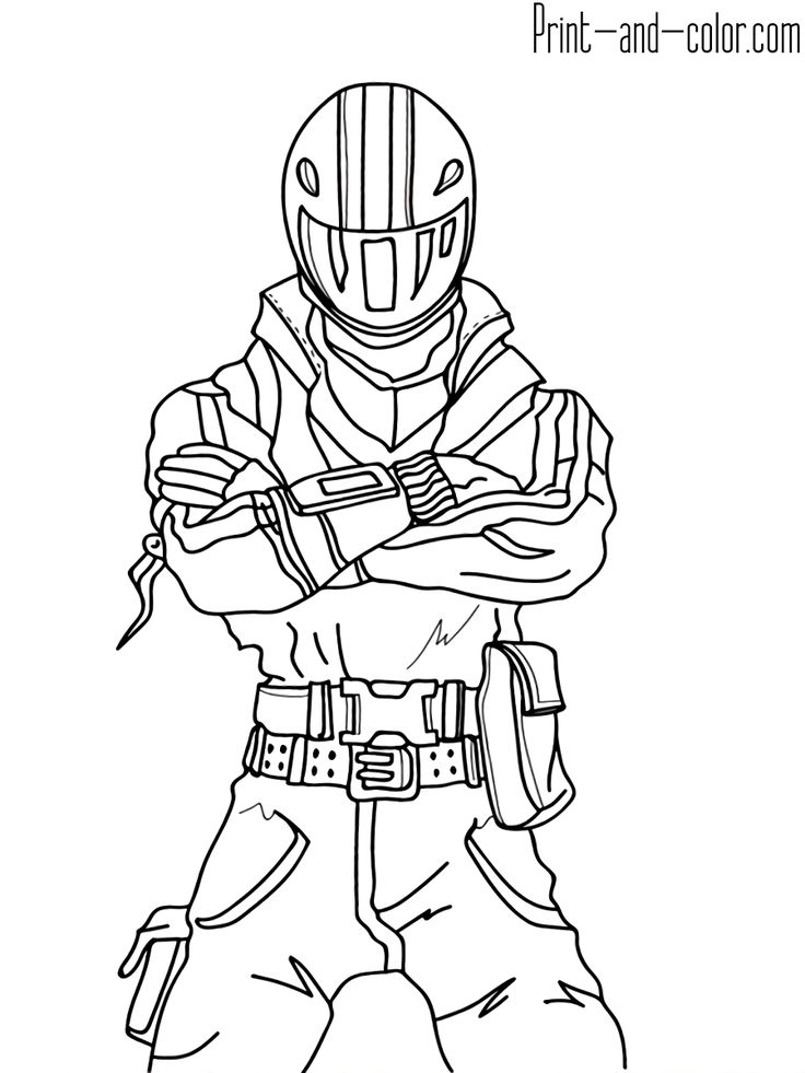 Fortnite coloring pages Print and coloring in