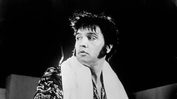 Elvis in rehearsal