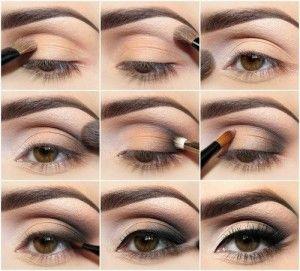 Deep set eye makeup steps