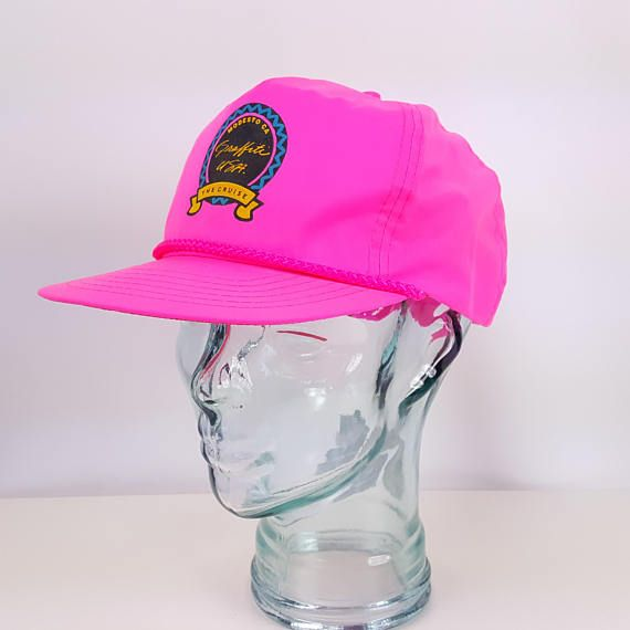9c75659b674d65 Neon Cap Hat 80s 90s Vintage Pink Beach Surf Volleyball Skate in 2019    Phat Hats 1980s 1990s style   Hats, Pink beach, Vintage pink