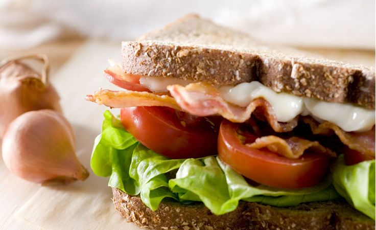 BLT Sandwich with Sesame Mayo Add pizzazz to your BLT with creamy sesame mayo.