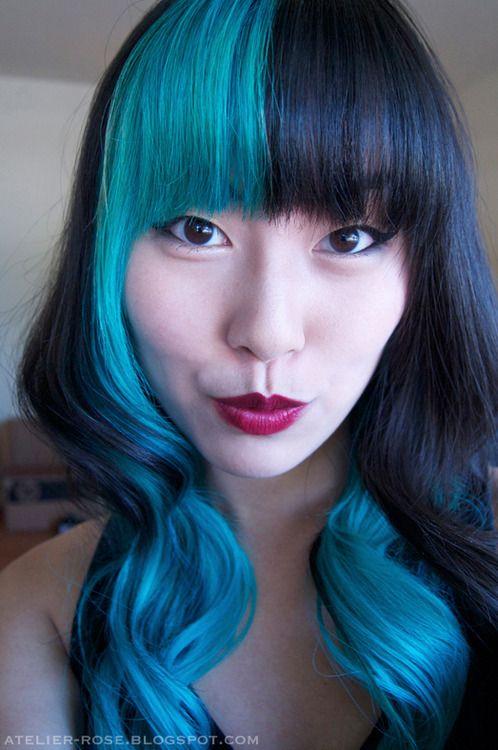 #blue #black #hair