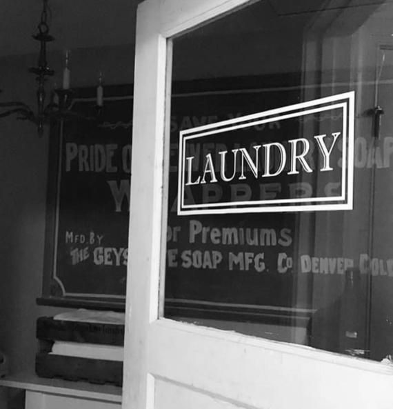 Laundry Vinyl Decal Laundry Room Decal Glass Door Vinyl Lettering Rectangle Border Traditional Decor Laundry Room Decals Room Decals Laundry Doors