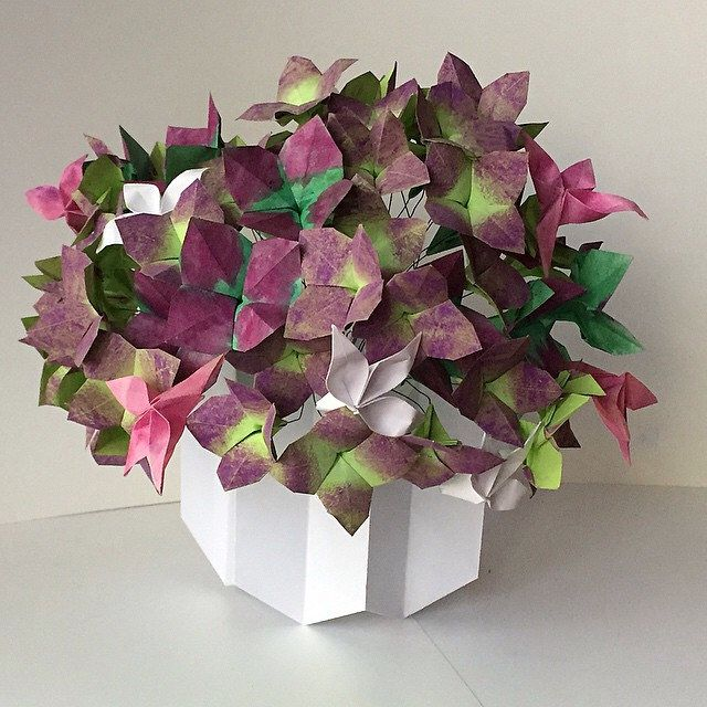 79 best NLM Origami Passion Flower Bouquet images on Pinterest ...