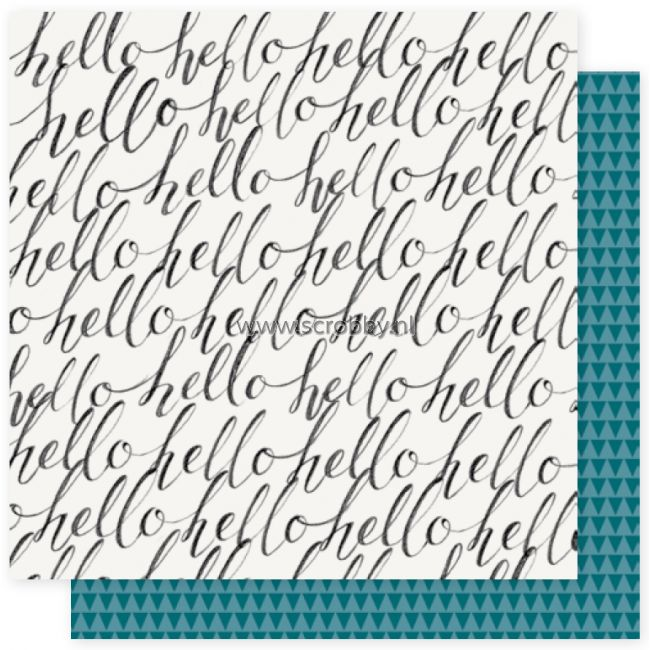 Crate Paper Maggie Holmes Bloom Double Sided Cardstock Hello Hello