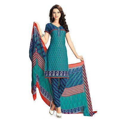 Indian Pakistanisch Bollywood Ethnischen Anzug Unstitched Designer Salwar K 3306