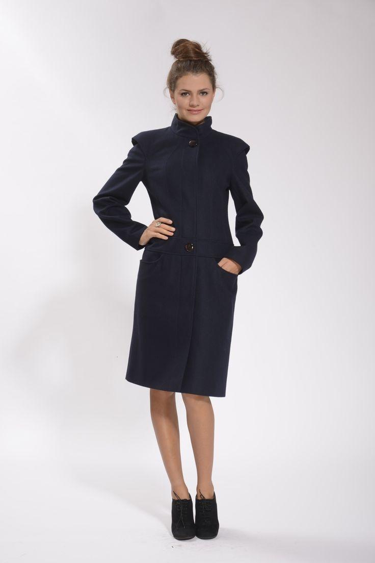 Пальто женское на кокетке с заниженной талией СИМПАТИКА M553 в интернет магазине kozha.ru