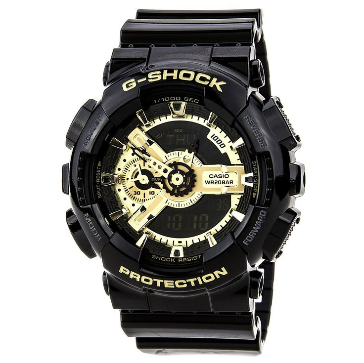 Casio Men's GA110GB-1A G Shock Limited Edition Analog Digital Black Watch >>> Learn more by visiting the image link.