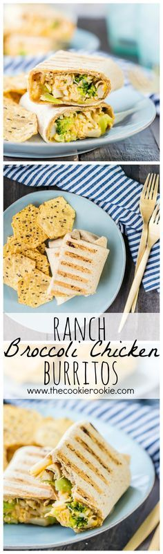 Comfort food can be healthy! Cheesy Ranch Broccoli Chicken Burritos are a quick…