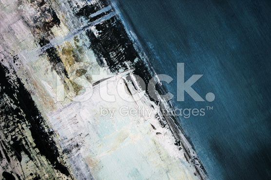 abstract blue oil painting royalty-free stock illustration