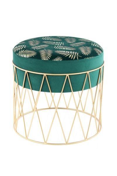 Hocker Cleopatra 225 Grün / Gold | Hocker, Online möbel ...