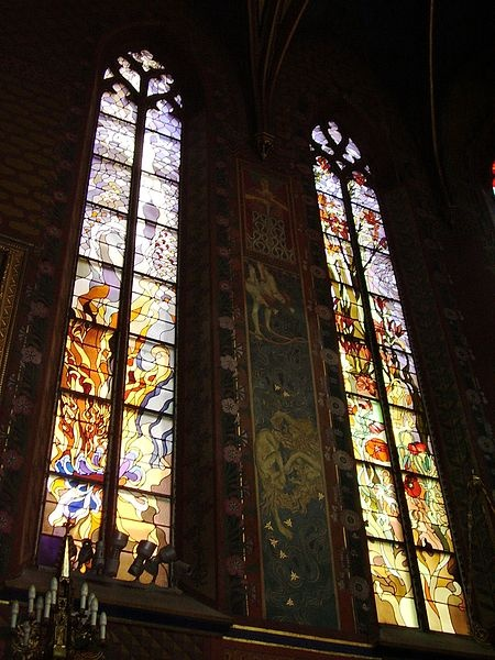 Stained glass, St. Francis of Assisi's Church, Krakow, 1905