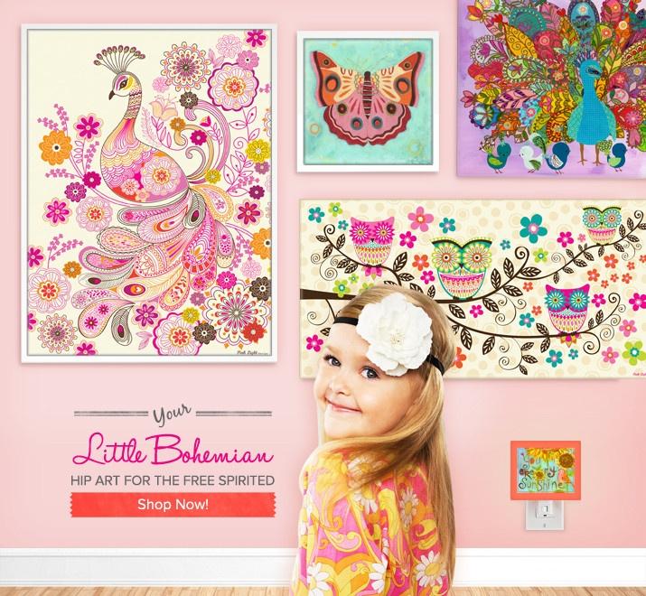 Little Bohemian wall art for girls