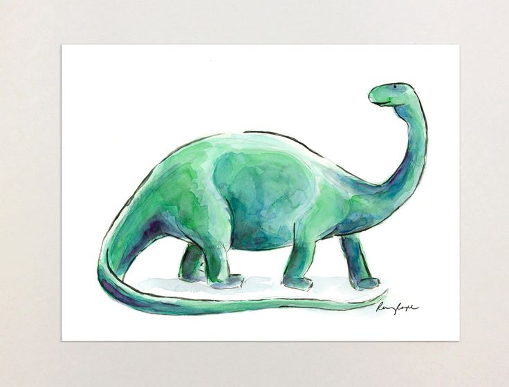 Henry the Dinosaur - A4 Print of Orginial Watercolour Painting