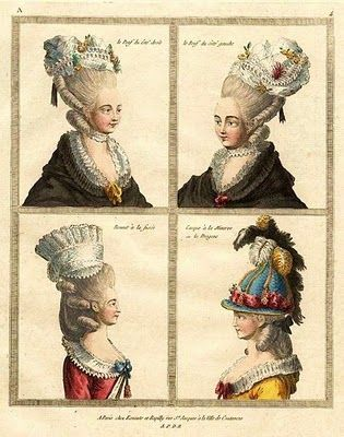 1777 French fashion plate, http://b-womeninamericanhistory18.blogspot.com/ by Barbara Wells Sarudy