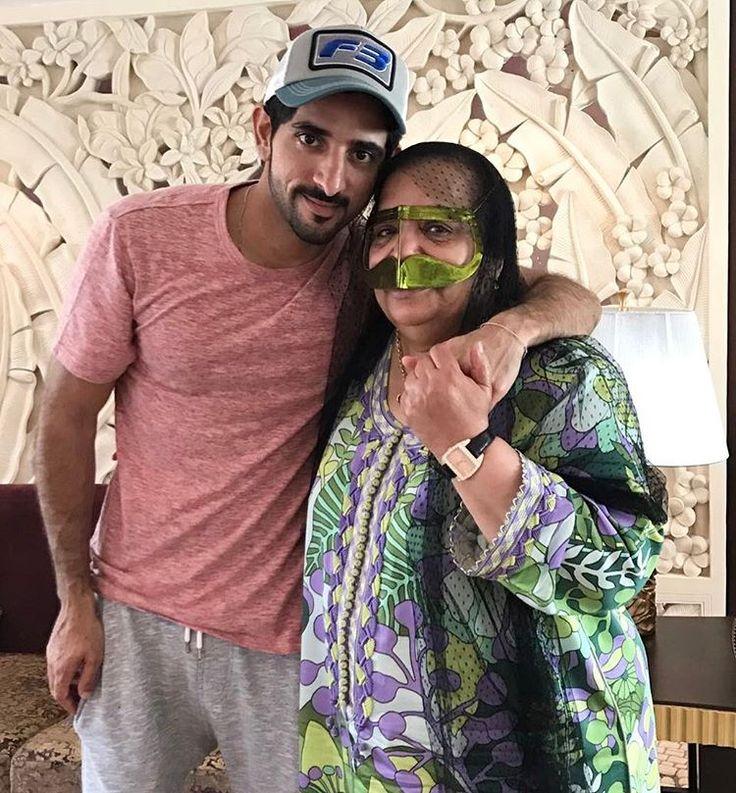 Hamdan bin Mohammed bin Rashid Al Maktoum con Mama Nora, 19/04/2017.  Vía: mamanooora