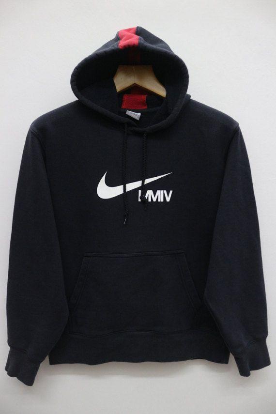 Vintage Nike Mmiv Sportswear Black Hoodies Sweater Sweatshirt