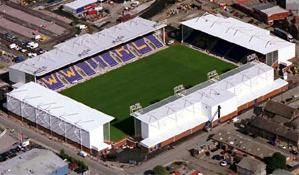 An aerial view of the Warrington wolves playing grounds