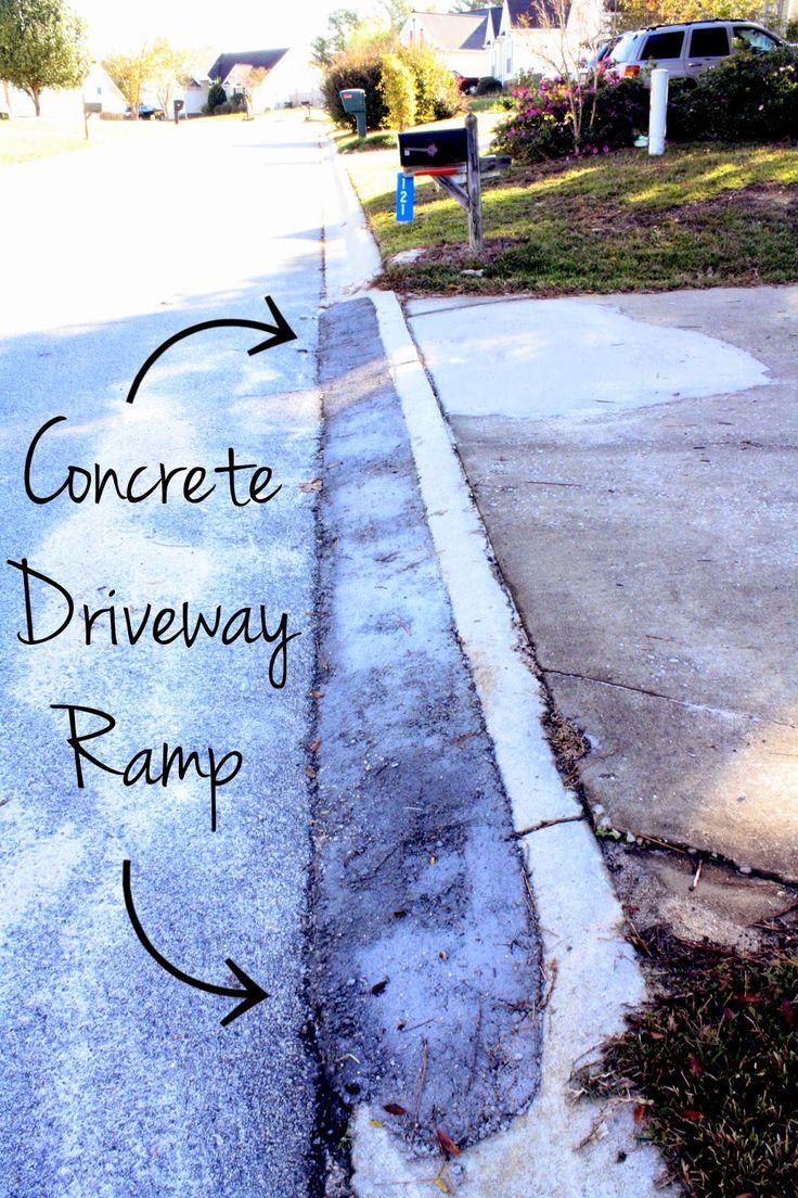 Castle diy how to pour a concrete driveway ramp home for How to pour a concrete driveway