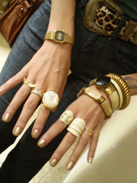 gold: Watch, Skull Fashion, Ivory Skull
