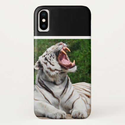 White Tiger Bengal Tiger iPhone X Case - cat cats kitten kitty pet love pussy