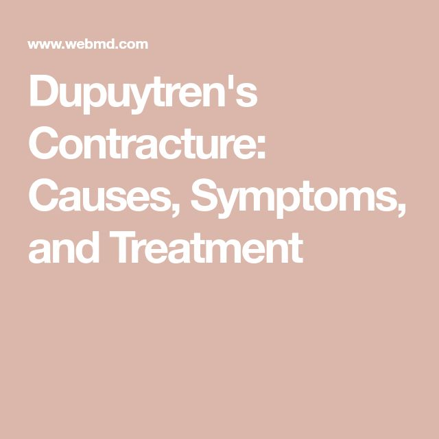 Dupuytren's Contracture: Causes, Symptoms, and Treatment