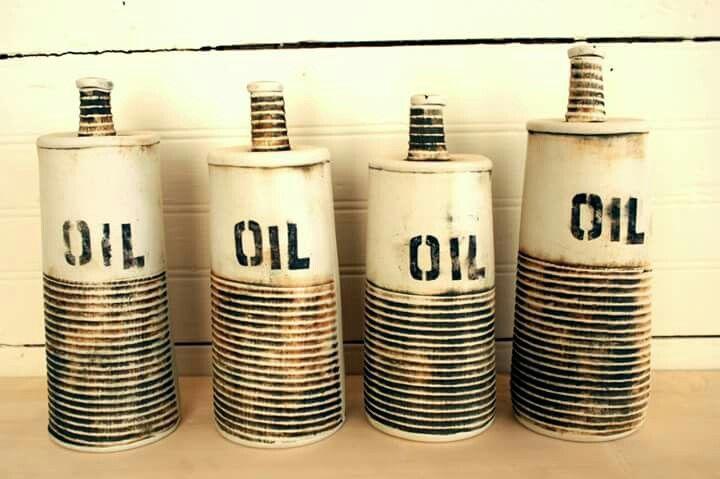 Bouteilles d'huile façonnées_KG céramique
